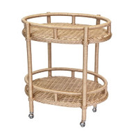 Sausalito Oval Bar Cart - Deguise Interiors Charleston SC