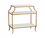 Milla Side Table with Wood Shelves - Deguise Interiors Charleston SC