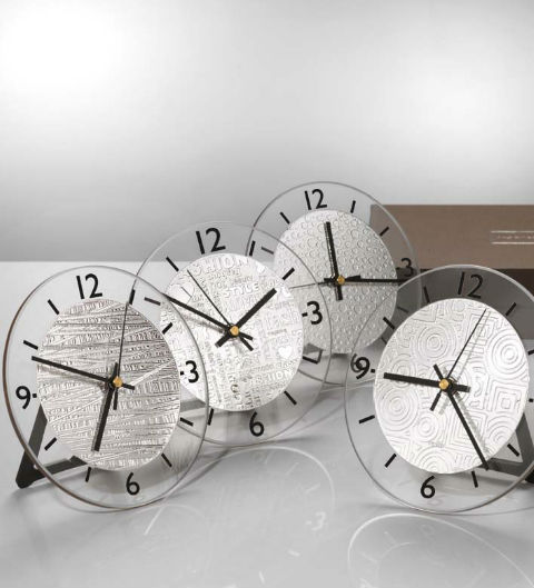 Silver Argenesi Clocks by Dell'Orio