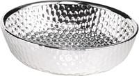 Glass & Silver Round Bowl