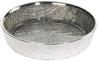 Glass & silver Round Tray