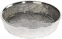 Glass & silver Round Tray