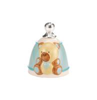 Blue Bear Silver & Porcelain Bell