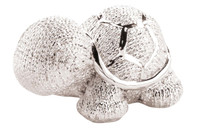 Silver Coated Turtle Figurine