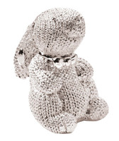 Silver Bunny Figurine