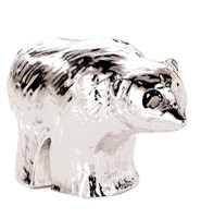 Resin & Silver Bear Figurine