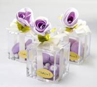 Delicate Violet Favor Box