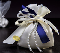 Pearl Decorated Favor Bag