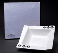 Bone China Candy Dish W/ Swarovsi Crystals