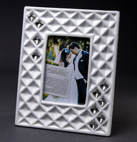 Bone China Large Picture Frame w. Swarovski