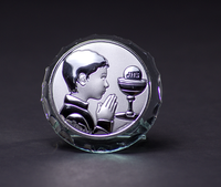 Silver Communion Boy Favor