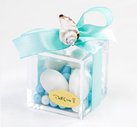 Seashell Plexiglass Favor Box w/ Candy