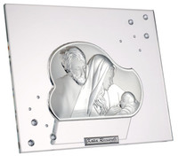 Holy Family Plaque w/ Swarovski