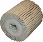 4 x 4 x 3/4 In. Quad-Keyway Felt Flap Wheel Drum / Roll | D5/H25 | Wendt 323821