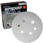 "6"" 6 Hole Rhynogrip Hook & Loop Discs (Box of 50) | 40 Grit AO | Indasa 62-40"