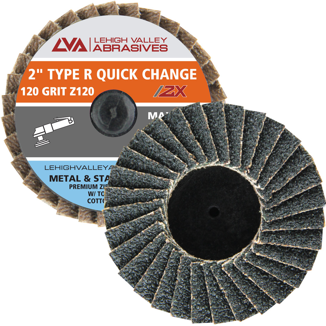 """100-2/"""" Roloc A//O Quick Change Sanding Disc 24 Grit and Mandrel Disc Holder"""
