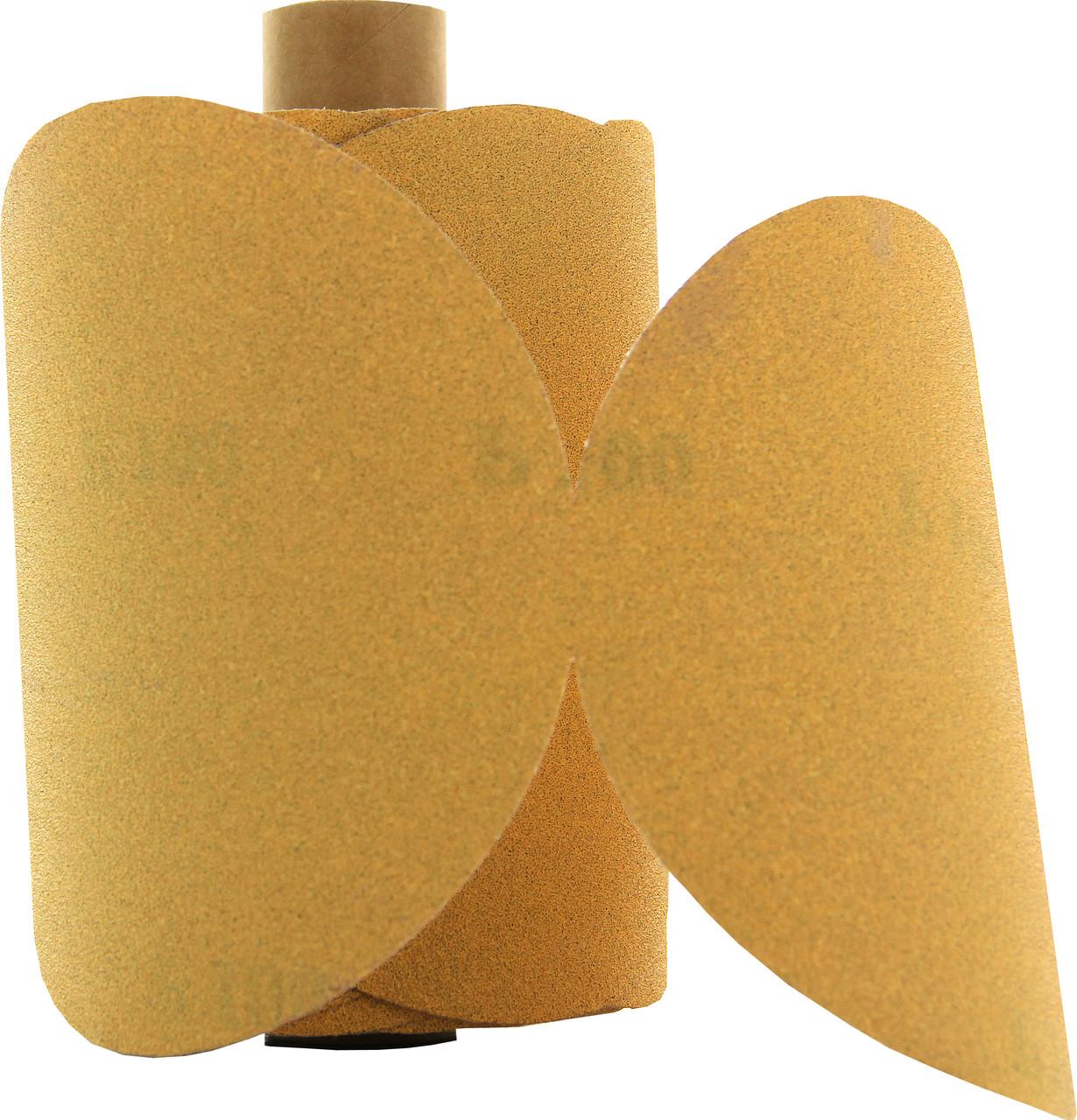 """100//Roll Mirka Gold 23-342-320 6/"""" Sticky Back PSA Sanding Discs 320 Grit"""