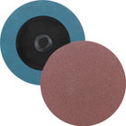 "3"" Quick Change Sanding Disc (Box Qty: 50) | Type R | 24 Grit Aluminum Oxide | LVA RD30AO-24"