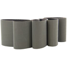 4 x 4 In. Pyramid Structured Abrasive Belts for Metabo Burnishers (Pkg Qty: 5) | P600 Grit (A 30) | Metabo 626408000