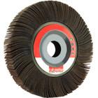 "6"" x 1"" x 1"" Flap Wheel on Flange | 120 Grit Aluminum Oxide | LVA FW600100D120AO"