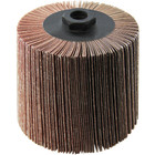 4 x 4 x 5/8-11 In. Threaded Abrasive Flap Wheel Drum / Roll | 80 Grit Aluminum Oxide | Wendt 323104
