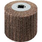 4 x 4 x 3/4 In. Quad-Keyway Interleaf Flap Wheel Drum / Roll | 180 Grit Aluminum Oxide | Metabo 623485000