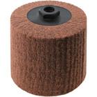 4 x 4 x 5/8-11 In. Threaded Non-Woven Nylon Abrasive Flap Wheel Drum / Roll | Medium Grade | Wendt 323751