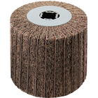 4 x 4 x 3/4 In. Quad-Keyway Interleaf Flap Wheel Drum / Roll | 60 Grit Aluminum Oxide | Metabo 623483000