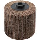 4 x 4 x 5/8-11 In. Threaded Interleaf Flap Wheel Drum / Roll | Coarse / 60 Grit | Wendt 323451