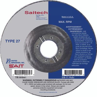 "5"" x 1/8"" x 7/8""  T27 Pipeline Wheel | Sait Saitech 22274"