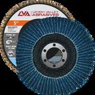 "5"" x 7/8"" Zirconia High Density Flap Disc Type 27 Flat | 40 Grit T27 | LVA CFFAS50J040ZX"