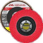 "4.5"" x 7/8"" Ceramic High Density Flap Disc Type 27 Flat | 36 Grit T27 | LVA CFFAS45J036CP"