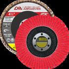 "4.5"" x 7/8"" Ceramic High Density Flap Disc Type 27 Flat | 120 Grit T27 | LVA CFFAS45J120CP"