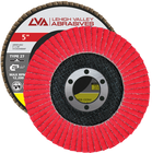 "5"" x 7/8"" Ceramic Flap Disc Type 27 Flat | 40 Grit T27 | LVA CFFAS50S040CP"