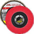 "5"" x 7/8"" Ceramic High Density Flap Disc Type 27 Flat | 80 Grit T27 | LVA CFFAS50J080CP"