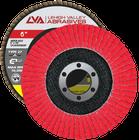 "6"" x 7/8"" Ceramic Flap Disc Type 27 Flat | 36 Grit T27 | LVA CFFAS60S036CP"