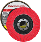 "6"" x 7/8"" Ceramic Flap Disc Type 27 Flat | 60 Grit T27 | LVA CFFAS60S060CP"