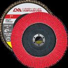 "7"" x 7/8"" Ceramic Flap Disc Type 27 Flat | 36 Grit T27 | LVA CFFAS70S036CP"