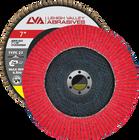 "7"" x 7/8"" Ceramic Flap Disc Type 27 Flat | 40 Grit T27 | LVA CFFAS70S040CP"
