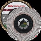 "5"" x 7/8"" Flap Disc for Aluminum Type 27 Flat | 40 Grit T27 | LVA CFFAS50S040AP"
