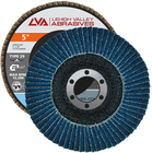 "5"" x 7/8"" Zirconia Flap Disc Type 29 Conical | 36 Grit T29 | LVA CFCAS50S036ZX"