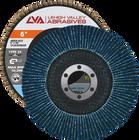 """6"""" x 7/8"""" Zirconia Flap Disc Type 29 Conical   120 Grit T29   LVA CFCAS60S120ZC"""