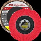 "4.5"" x 7/8"" Ceramic High Density Flap Disc Type 29 Conical | 40 Grit T29 | LVA CFCAS45J040CP"