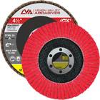 "4.5"" x 7/8"" Ceramic High Density Flap Disc Type 29 Conical | 60 Grit T29 | LVA CFCAS45J060CP"