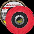 "5"" x 7/8"" Ceramic High Density Flap Disc Type 29 Conical   40 Grit T29   LVA CFCAS50J040CP"
