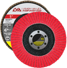 "5"" x 7/8"" Ceramic High Density Flap Disc Type 29 Conical   80 Grit T29   LVA CFCAS50J080CP"