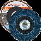 "4.5"" x 5/8""-11 Threaded Zirconia High Density Flap Disc Flat | 36 Grit T27 | LVA CFFAS45J036ZX"