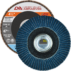 "4.5"" x 5/8""-11 Threaded Zirconia High Density Flap Disc Flat 