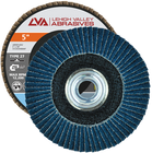 "5"" x 5/8""-11 Threaded Zirconia Flap Disc Type 27 Flat 