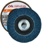 "5"" x 5/8""-11 Threaded Zirconia High Density Flap Disc Type 27 Flat | 60 Grit T27 | LVA CFFTS50J060ZX"